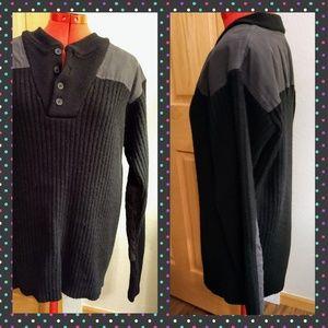 Vtg LLBean commando sweater black wool L